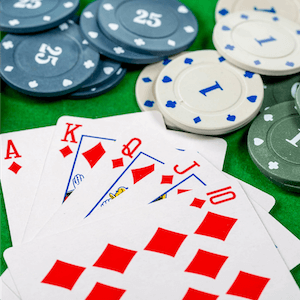 poker cards and chips